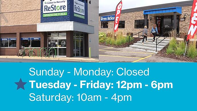 Sunday - Monday: Closed. Tuesday - Friday: 12pm - 6pm. Saturday: 10am - 4pm.