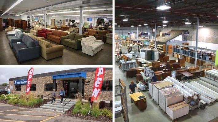 Three photos of ReStore.
