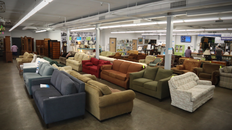 An interior view of the ReStore home improvement outlet in Minneapolis, MN