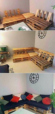 Couch made from pallets.