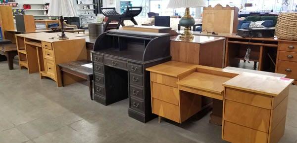 Desks at ReStore.