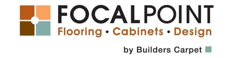 Logo: Focalpoint Flooring, Cabinets, & Design, by Builders Carpet.
