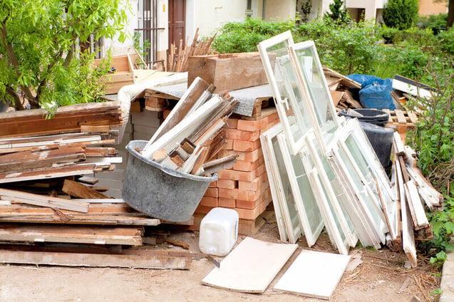 Leftover building materials.