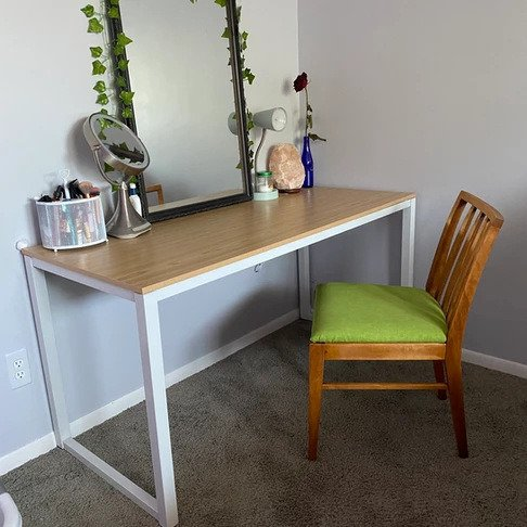 Finished chair with desk.