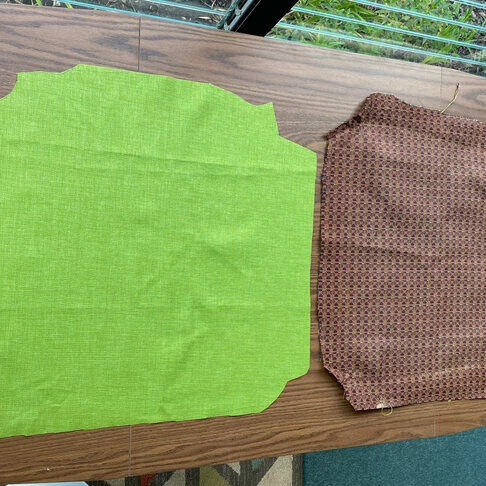 Comparing the shape of the old and new fabric.