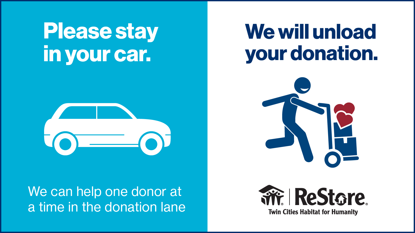 donation door message