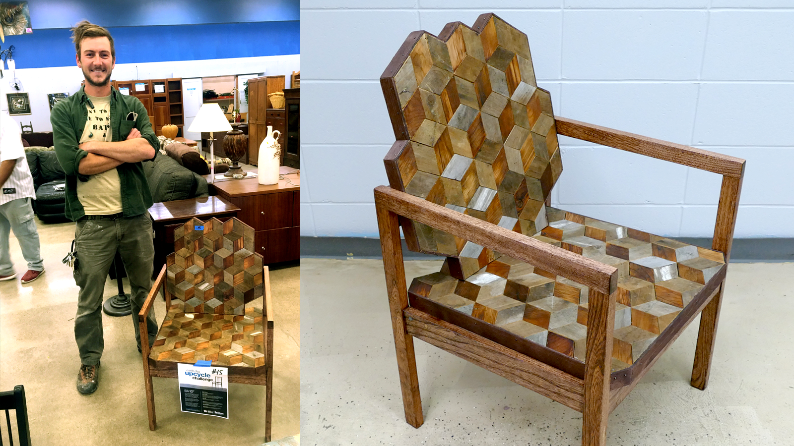 Joey Ford and his winning upcycled chair project