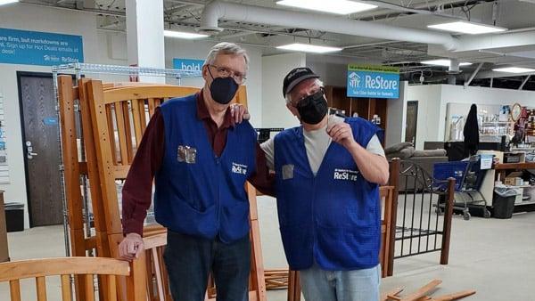 volunteers Warren and Tim