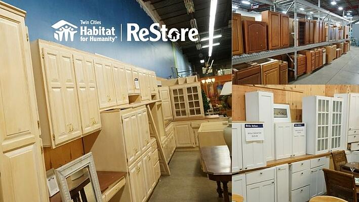 Kitchen and bathroom cabinets at ReStore.