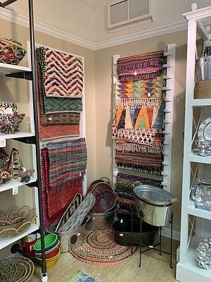 Various home decor from India Handicrafts.