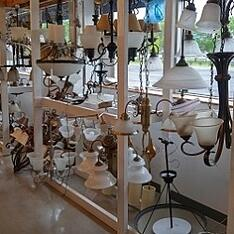 A variety of lighting at ReStore.