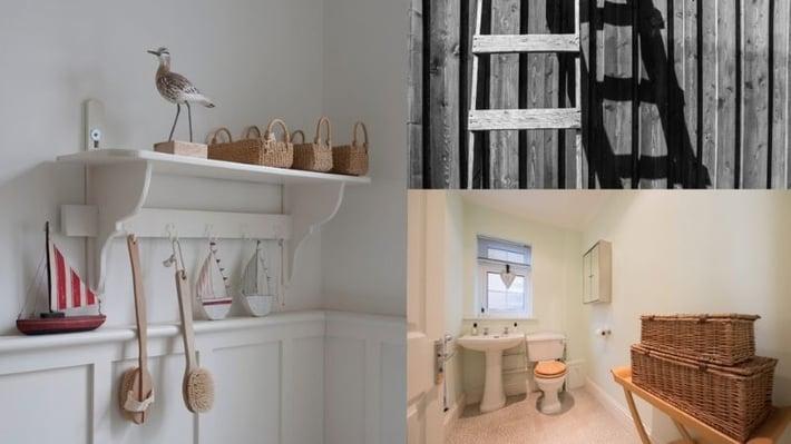 Bathroom organization solutions.