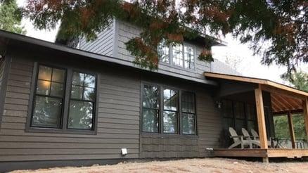 Gayle's remodeled cabin.