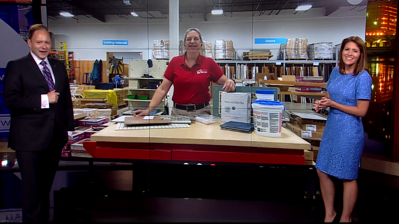 Jan on a recent segment of WCCO's DIY Friday showing off tiling tips