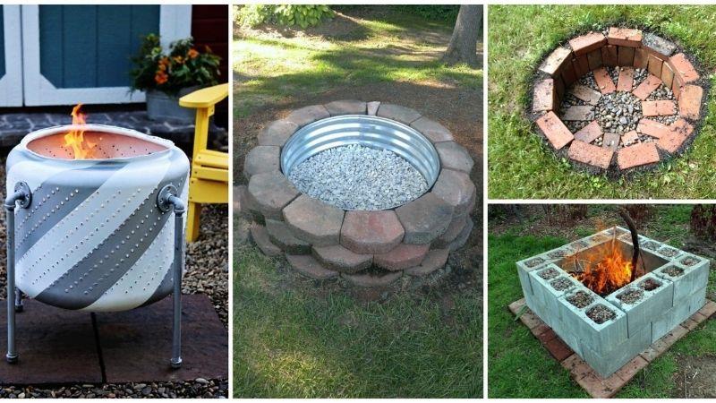 Various fire pit ideas.