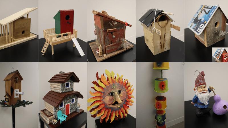 Upcycled Birdhouses.
