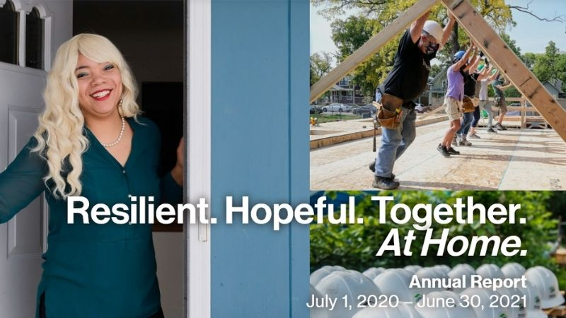 Twin Cities Habitat for Humanity Annual Report 2020-2021.