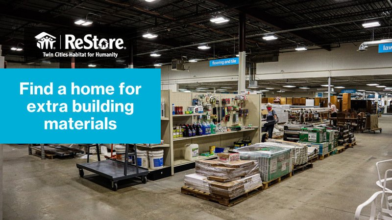 Find a home for extra building materials.