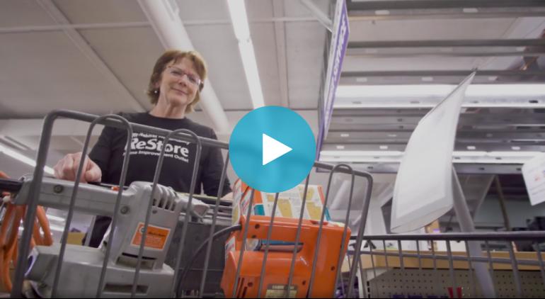 donna's volunteer spotlight at ReStore