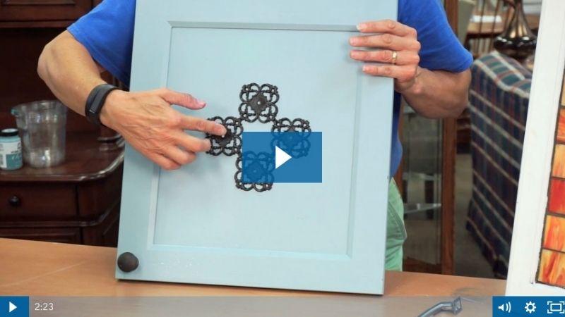 Preview image of cabinet door video.