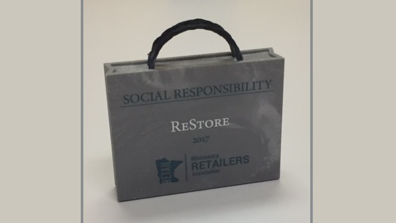 The 2017 Social Responsibility Award from the Minnesota Retailers Association.