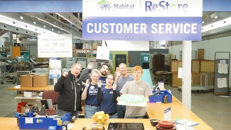 ReStore team celebration $1 million in sales.