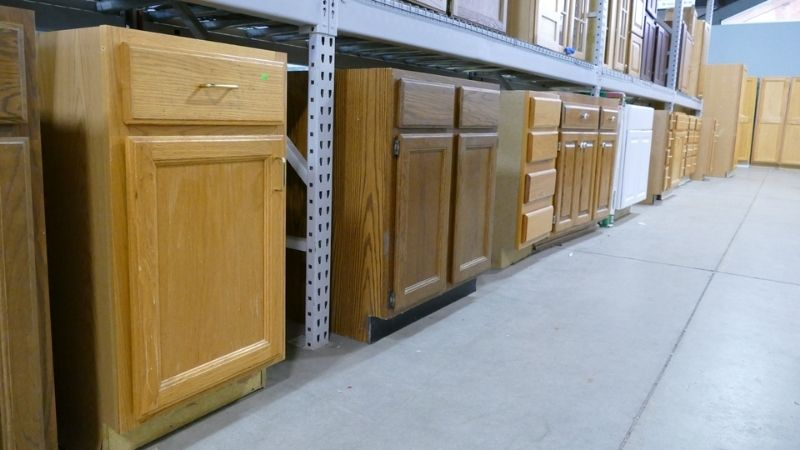 Cabinets donated by residents of EagleCrest.