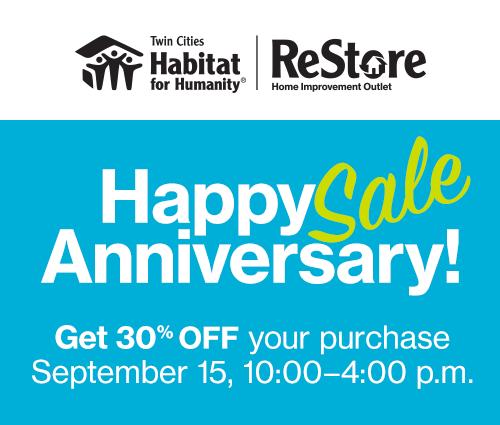 ReStore Anniversary Sale