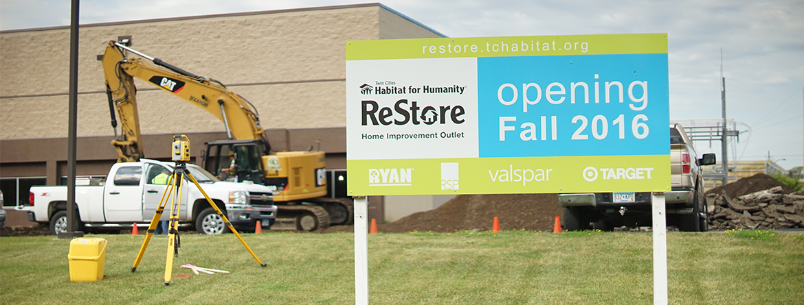 Second ReStore Opening Fall 2016 Sign