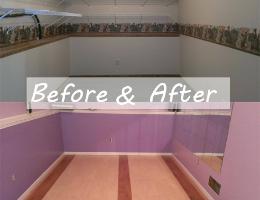 Before and After - DIY Dance Studio Floor