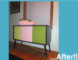 Cabinet DIY Before & After